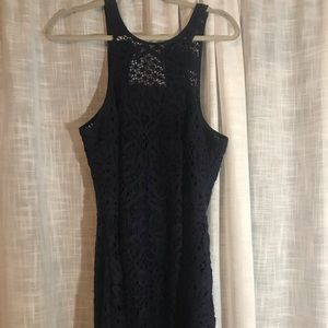 Lilly Pulitzer navy lace dress